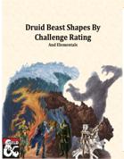 Druid Beast Shapes Compendium