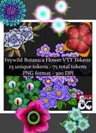 Faewild Botanica Flowers VTT Art Token Pack