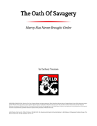The Oath of Savagery