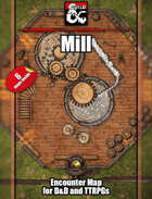 Mill (or Old Bonegrinder) Battlemap w/Fantasy Grounds support - TTRPG Map