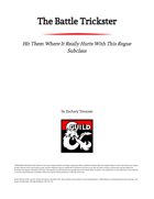 The Battle Trickster Rogue Class