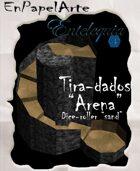 """Tira-dados Cascada circular """"Arena""""(tabloide) Dice roller Circular cascade """"Sand"""""""