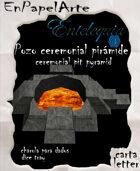 Pozo ceremonial pirámide /Pyramid Ceremonial pit (carta)