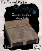 Camas simples matrimonial/ Simple Beds double