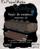 Tren de vapor, Vagón de pasajeros / Steam Train, passenger car