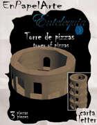 Torre de pizzas / Tower of pizzas