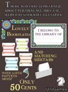 Lotus/Papyrus Bookplates & Sidetabs