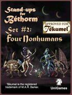 Four Nonhumans: Set 2, Bethorm Paper Minis