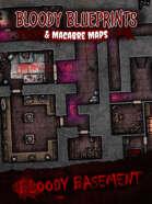 24x36 Battlemap - Bloody Basement