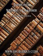 Items in a Wizard's Chamber