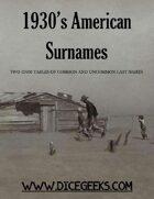 1930's American Surnames