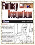 Fantasy Occupations