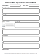 Veterans of the Psychic Wars Character Sheet