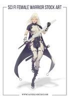 Sci Fi Female Soldier Stock Art