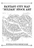 "Fantasy City Map ""Mildar"""