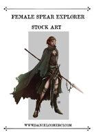 Female Spear Explorer Stock Art