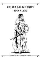 Female Knight Stock Art