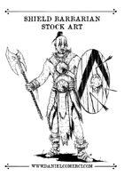 Shield Barbarian Stock Art