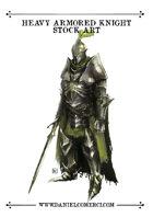 Heavy Armored Knight Stock Art