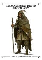 Dragonborn Druid Stock Art