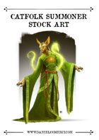 Oriental Catfolk Summoner Stock Art