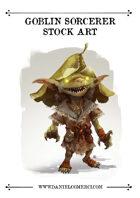Oriental Goblin Sorcerer Stock Art