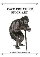Cave Creature Stock Art