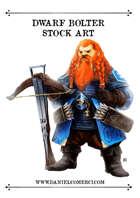 Dwarf Bolter Archer Stock Art