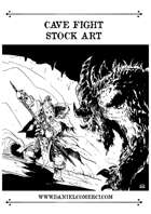 Cave Fight Stock Art