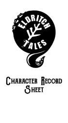 Eldritch Tales Character Sheet