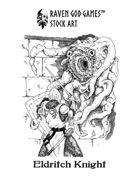 RGG Stock Art: Eldritch Knight Against Mythos Horror