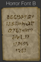 Horror Font B - TTF Font File with Lifetime Commercial License