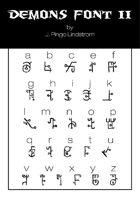 Demon Font II - TTF Font File with Lifetime Commercial License