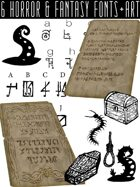 All 6 Horror & Fantasy fonts/art (TTF) [BUNDLE]