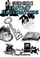 8 Generic Fantasy Illustrations for any RPG