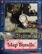 Fantasy city maps  3 city maps+The fort  [BUNDLE]