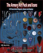 Art Pack For RPG Maps. 187 weapons, armor and displays Commercial use permitted
