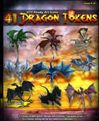 41 fantasy D&D Dragons Metallic and Chromatic Tokens