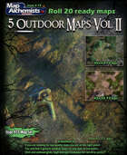 5 Outdoor Battle-Maps Volume II For roll 20
