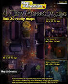 4 Medieval city streets for Roll 20