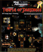 The Temple of Darkness map and room set for VTT & Printing
