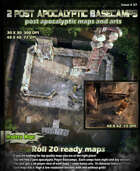 2 Superb Post-apocalyptic Basecamp Maps & arts set ( Day and Night versions and 3d player views)