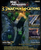 3 Dwarven Location fantasy Maps For VTT and Printing with 3d player views included !