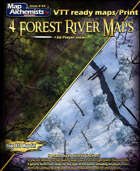 4 Beautiful forest river maps with 3d player views