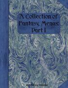 A Collection of Fantasy Menus