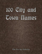 100 Town and City Names
