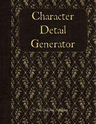 Character Detail Generator