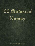 100 Botanical Names