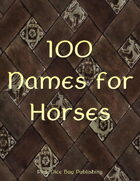 100 Names for Horses