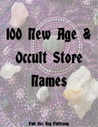 100 New Age & Occult Store Names